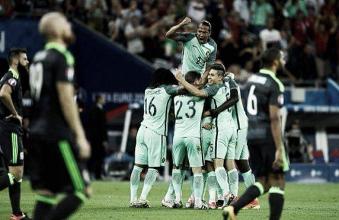 Portugal marca dois gols em sequência, bate Gales e volta à final da Eurocopa após 12 anos