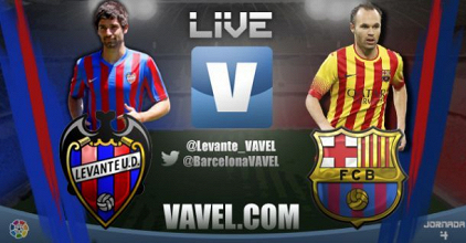 Live Liga BBVA : le match Levante - FC Barcelone en direct
