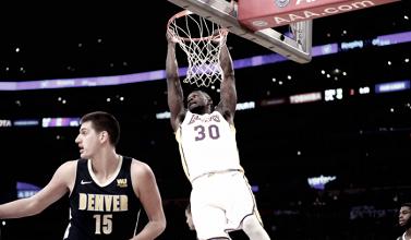 Malone y Jokic, expulsados en la derrota contra los Lakers