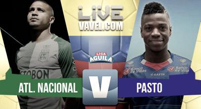 Atlético Nacional vs Deportivo Pasto en vivo y en directo online por la Liga Águila 2017 (2-1)