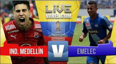 Resumen Medellín vs Emelec (1-2) Copa Libertadores