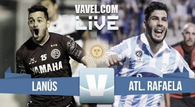 Lanús vs Atlético Rafaela en vivo por el Torneo de Primera División (2-0)