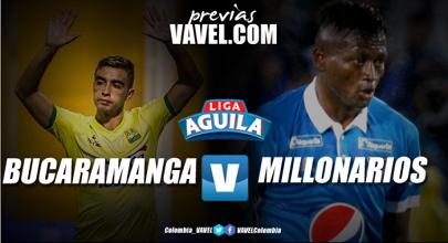 Previa Bucaramanga vs Millonarios: todo empieza en Floridablanca