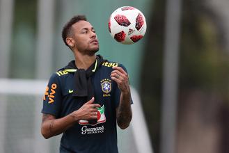 Neymar, una delle tante stelle che scenderanno in campo in Brasile-Belgio. | @CBF:Futebol, Twitter.
