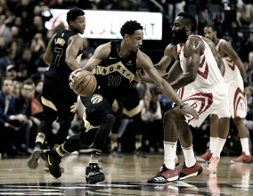 No duelo dos líderes, Raptors vencem e encerram sequência de 17 vitórias seguidas dos Rockets