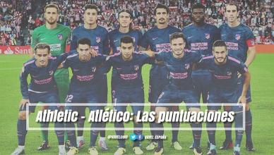 Athletic Club de Bilbao - Atlético de Madrid: puntuaciones del Atlético, jornada 5 de La Liga Santander