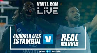 Anadolu Efes 74-88 Real Madrid en directo online en Euroliga 2017