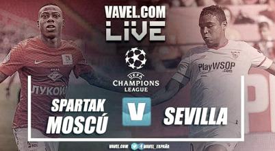 Resultado Spartak de Moscú vs Sevilla de Champions League 2017 (5-1)