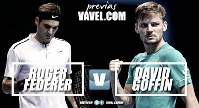 Previa Roger Federer - David Goffin: el maestro contra el guerrero