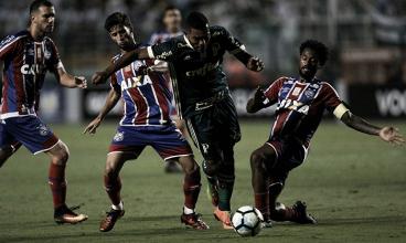 Palmeiras abre ótima vantagem, mas cede empate ao Bahia no fim