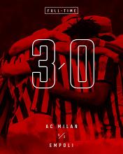 Serie A - Il Milan ne fa tre nella ripresa: Empoli ko e -1 dall'Inter