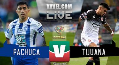 Resultado y goles del partido Pachuca vs Xolos Tijuana en Copa MX 2017 (4-0)