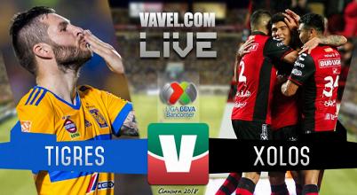 Gol del partido Tigres vs Xolos Tijuana en Liga MX (1-0)