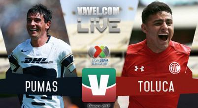 Resultado del partido Pumas 0-1 Toluca de la Liga MX 2018