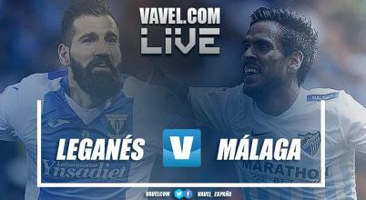 CD Leganés - Málaga CF, en vivo y en directo online en LaLiga 2018 (0-0)