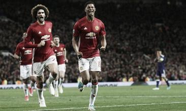Rashford festeggia il gol del 2-1 | The Guardian