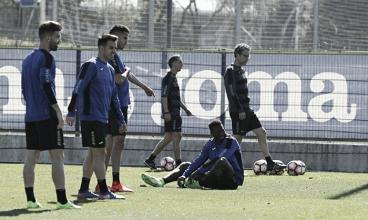 Víctor Sánchez en la convocatoria para jugar contra el Eibar