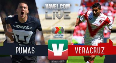 Resultado y goles del Pumas 0-2 Veracruz de la Liga MX 2017