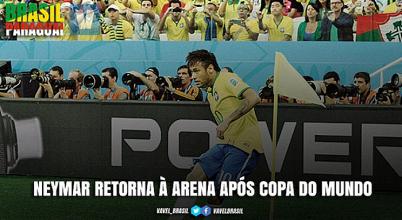Segundo capítulo: Neymar retorna à Arena Corinthians depois de estreia na Copa do Mundo