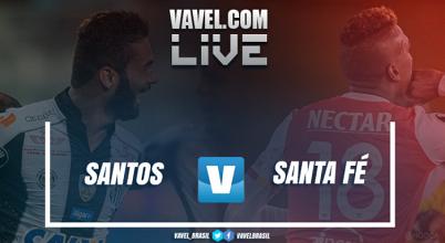 Santos vence o Santa Fe na Libertadores (3-2)