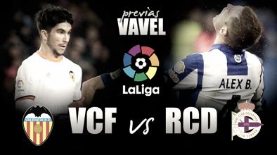 Previa Valencia - Deportivo: primer examen de abril