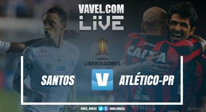 Resultado Santos x Atlético-PR pelas oitavas de final da Libertadores da América (1-0)