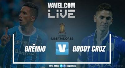 Resultado e gols Grêmio 2x1 Godoy Cruz na Copa Libertadores da América 2017 (3-1)