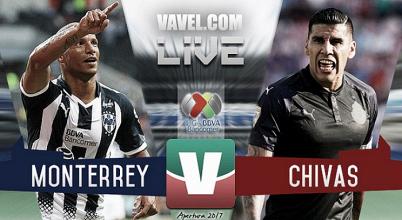 Resultado y goles del Monterrey 4-1 Chivas de la Liga MX 2017