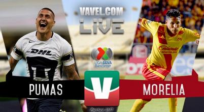 Resultado y goles del Pumas UNAM 1-2 Monarcas Morelia de la Liga MX 2017