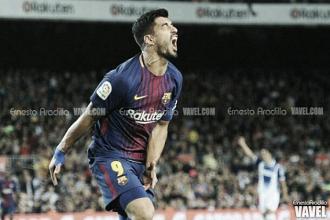 Luis Suárez se reencuentra y el Barça no falla