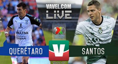 Resultado y goles del Querétaro 1-2 Santos en la Liga MX 2017