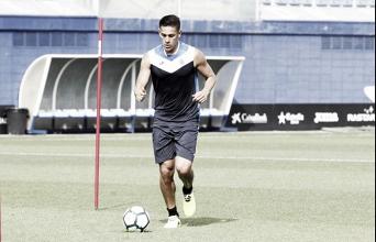 Óscar Duarte vuelve a ejercitarse con el grupo