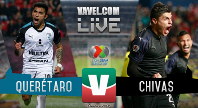 Resultado Querétaro 2-2 Chivas en Liga MX 2018