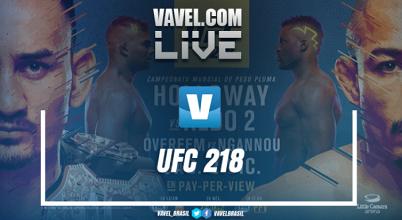 Resultado luta Max Holloway x José Aldo no UFC 218