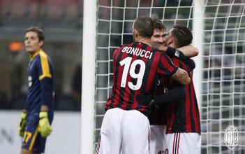Coppa Italia, tutto facile per il Milan: ora il derby contro l'inter