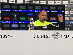Igor Tudor in conferenza. Fonte: Davide Marchiol