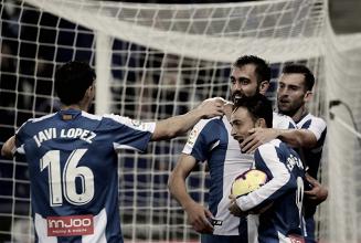 Jugadores del Espanyol celebrando un gol en el RCDE Stadium. Foto: RCD Espanyol