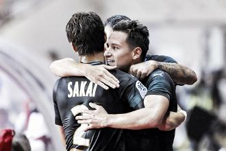 Em jogo marcado por viradas, Thauvin decide e Marseille vence Monaco na Ligue 1