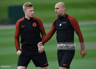 Kevin De Bruyne and Pablo Zabaleta ruled out of EFL Cup tie with Manchester United