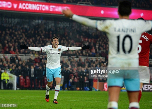 Middlesbrough 1-3 West Ham United: Hammers blow away Boro in routine victory
