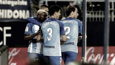 El Málaga rompe su racha de partidos sin marcar en casa