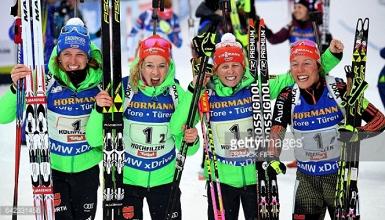 Franziska Hildebrand stars as German women claim relay gold at Biathlon World Championships