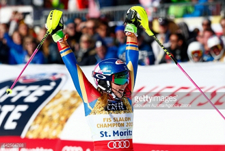 Mikaela Shiffrin claims historic World Championship slalom hat-trick with gold in St. Moritz