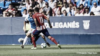 Un buen Leganés cae por la mínima ante el Atlético