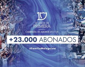 El Málaga supera el número de abonados