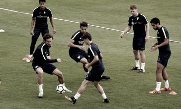 El Málaga ya se centra en su visita al Camp Nou