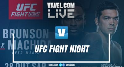 Resultado: Derek Brunson vence Lyoto Machida no UFC São Paulo