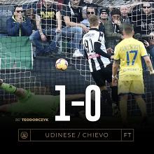 Serie A - Scontro salvezza scialbo, l'Udinese la spunta sul Chievo tra i fischi (1-0)
