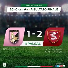 Serie B - Colpaccio della Salernitana nel finale: il Palermo cade in casa 1-2