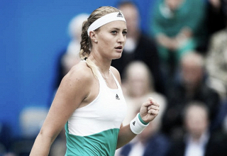 WTA Eastbourne: Kristina Mladenovic rolls past Shuai Zhang in her first match of the day